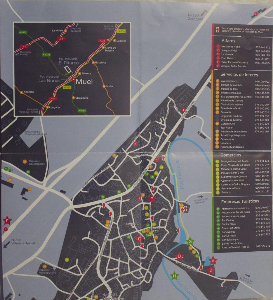 Mapa turístico Villa de Muel