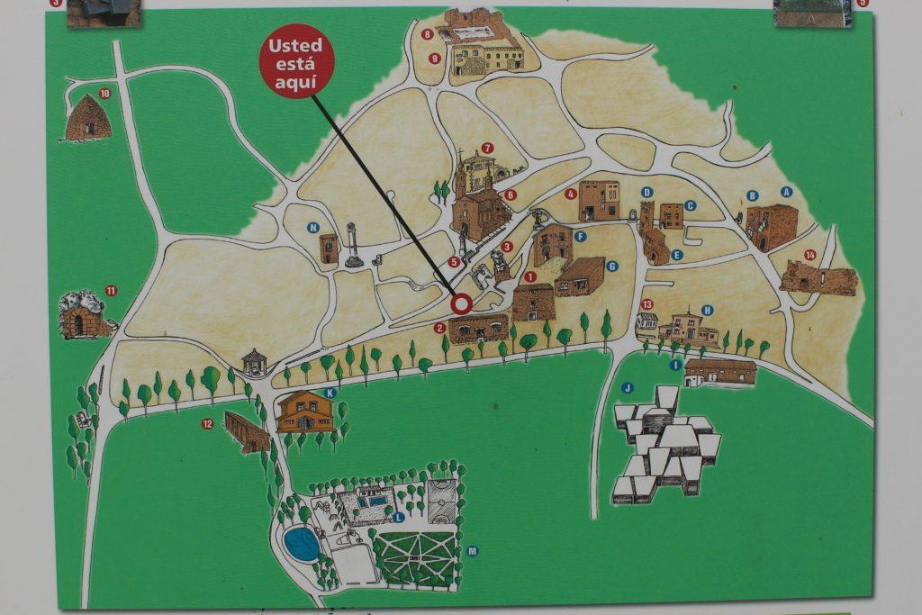 Mapa turístico Fuendetodos