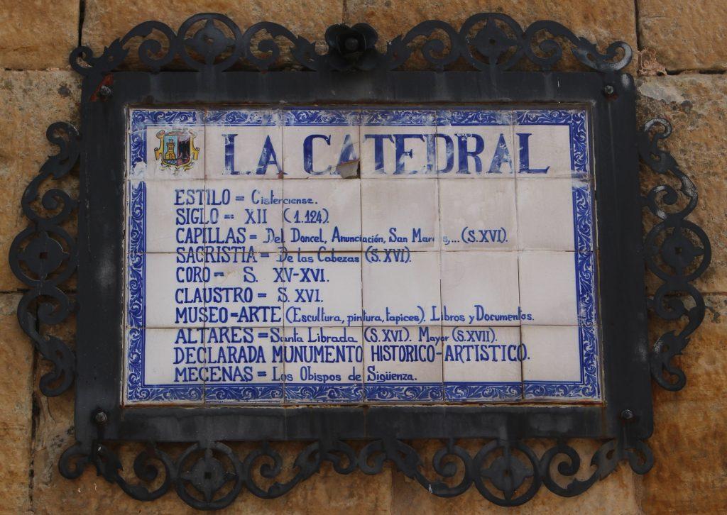 Información Catedral Siguenza