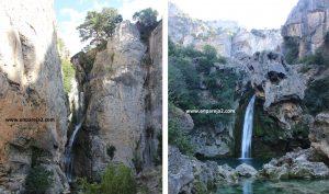 Cascada de los Organos y cascada la Calavera.