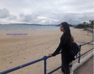 Vero en la playa del Sardinero